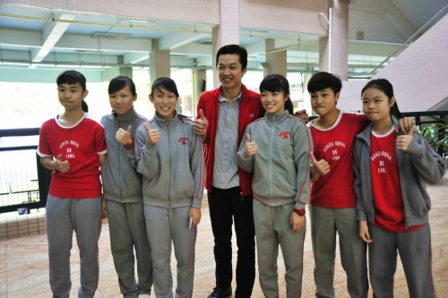 Olympic Champion Badminton Player, Taufik Hidayat, Visits Our School
